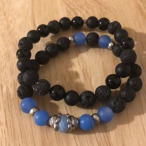 Set of 2 Volcanic Bracelets
